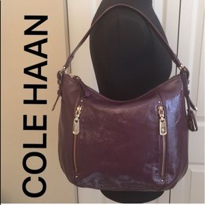 🆕COLE HAAN NEW PURPLE HOBO BAG 💯AUTHENTIC